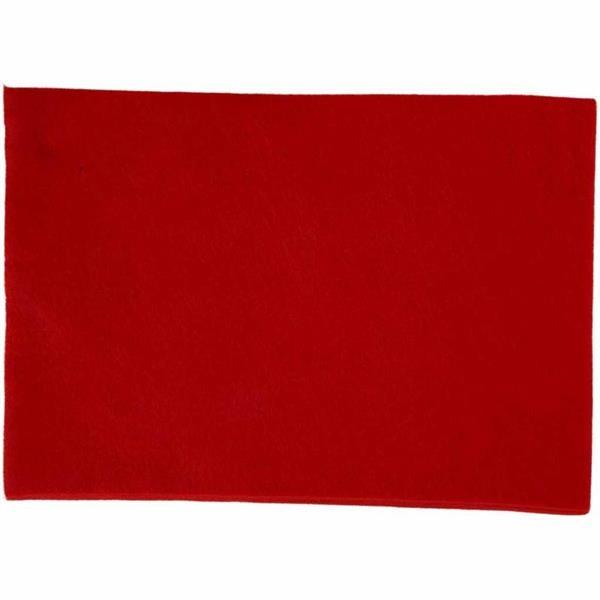 f4a8fa25489ba8 Dekoracyjny filc A4 - czerwony Creativ - sklep internetowy Creativehobby.pl