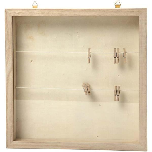 eeee0fbb722eae Drewniana ramka z szybką do zdobienia - efekt 3D Creativ - sklep internetowy  Creativehobby.pl