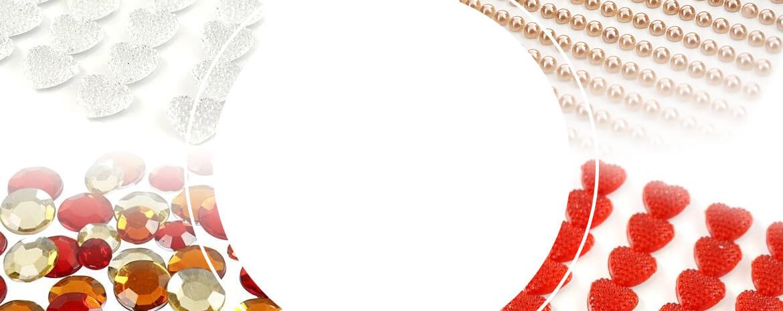 Ozdobne perełki i kryształki z 20% rabatem