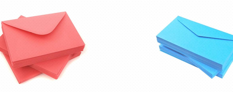 Kolorowe koperty do scrapbookingu
