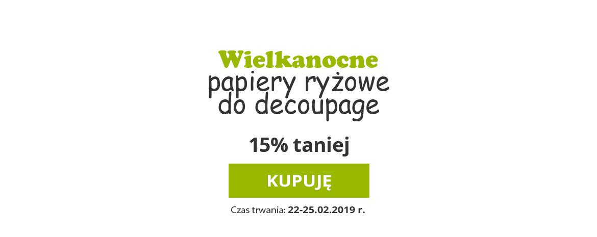 Papiery ryżowe do decoupage
