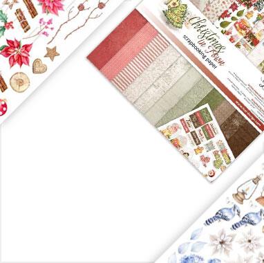 Scrapbookingowe papiery bożonarodzeniowe
