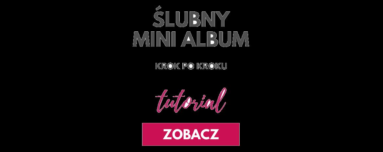 Ślubny mini album scrapbookingowy