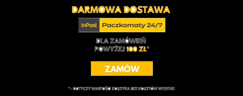 Darmowa dostawa do Paczkomatów InPost dla zamówień powyżej 100 zł