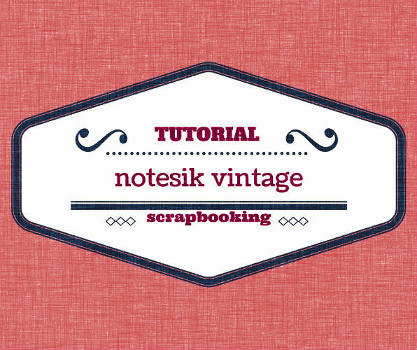 Notesik vintage - TUTORIAL