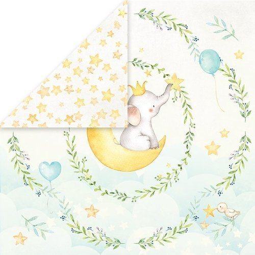 Papier do scrapbookingu 30x30 cm Baby Adventure 04