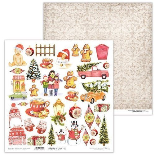 Papier do scrapbookingu 30x30 cm Christmas in Town 02