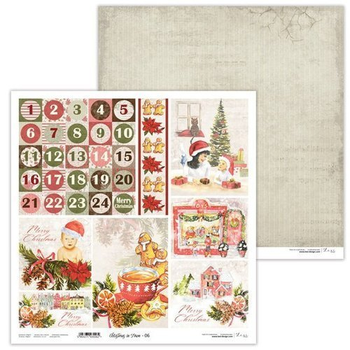 Papier do scrapbookingu 30x30 cm Christmas in Town 06