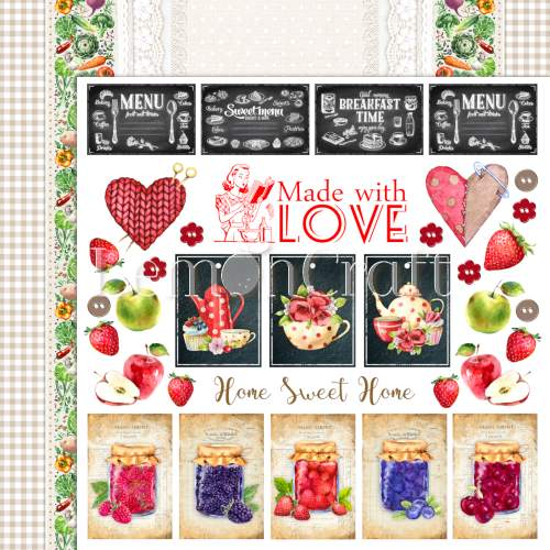 Papier do scrapbookingu 30x30 cm Delicious 04