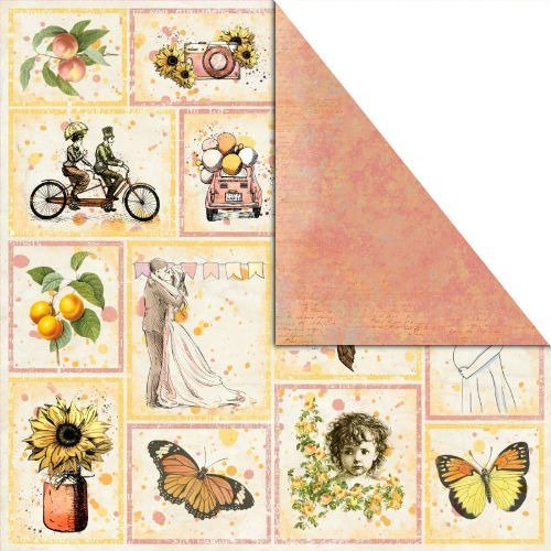 Papier  do scrapbookingu Bananarama 30,5x30,5 cm - Pictures of life