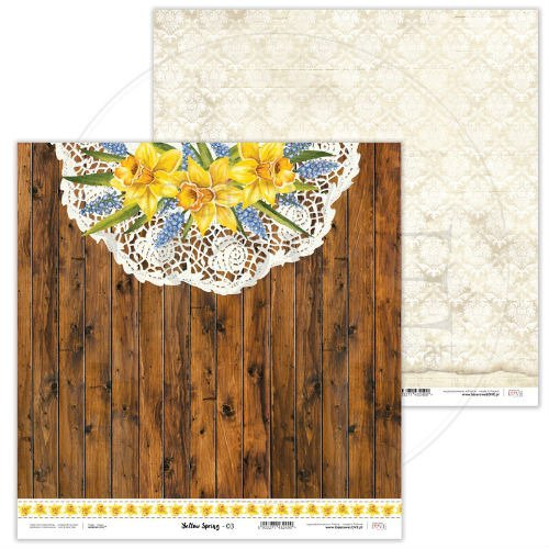 Papier do scrapbookingu Yellow Spring 30,5x30,5 cm - 03