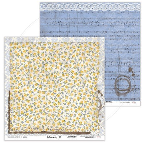 Papier do scrapbookingu Yellow Spring 30,5x30,5 cm - 04
