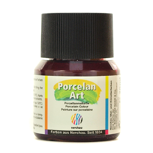 Porcelan Art 20 ml - bordowy