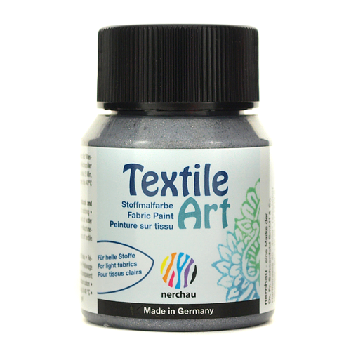 Textile Art 59 ml - srebrny brokatowy