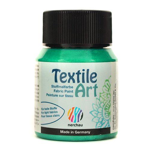 Textile Art 59 ml - zielony metalik