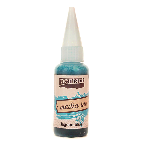 Tusz Media Ink 20 ml - lagoon-blue