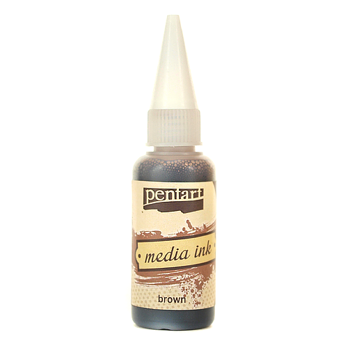 Tusz MediaInk 20 ml Pentart - brown