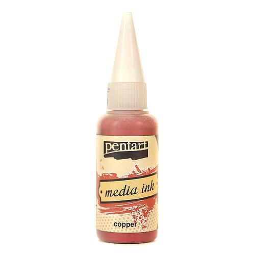 Tusz MediaInk 20 ml Pentart - copper