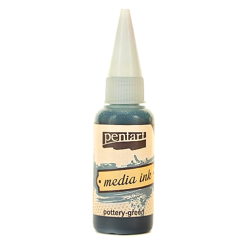 Tusz MediaInk 20 ml Pentart - poterry-green