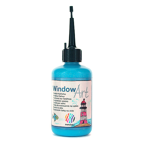 Window Art 80 ml - niebieski brokatowy