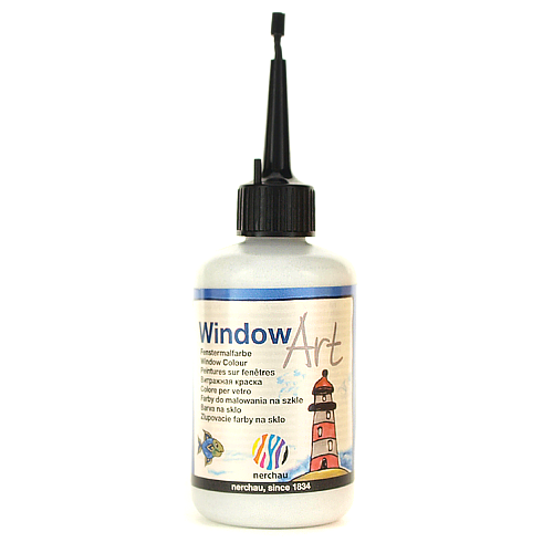 Window Art 80 ml - srebrny brokatowy