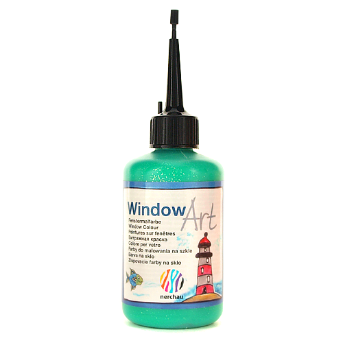 Window Art 80 ml -  zielony brokatowy