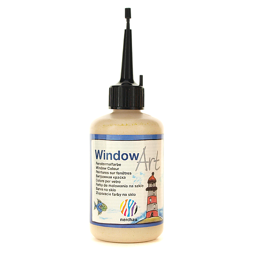 Window Art 80 ml -  złoty brokatowy ciemny
