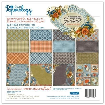 Ozdobny papier Vintage Journal 30,5x30,5 cm - 32