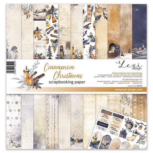 Papier do scrapbookingu Cinnamon Christmas 30x30 cm