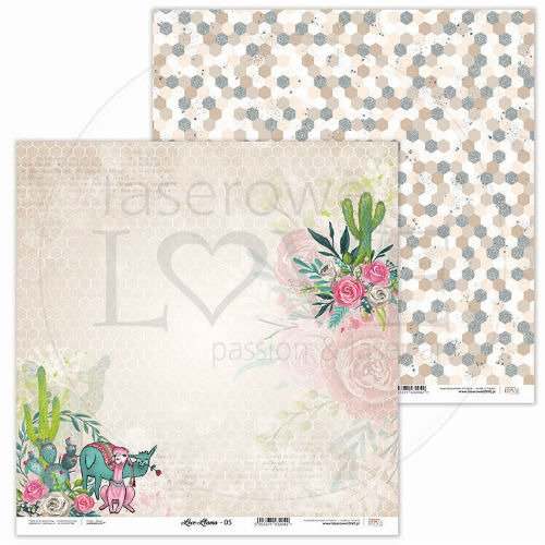 Papier do scrapbookingu Love Llama 30,5x30,5 cm - 05