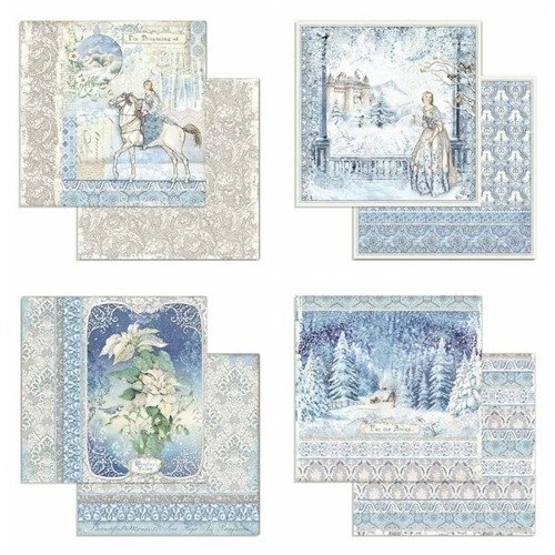 Papiery do scrapbookingu Winter Tales 30x30 cm 10 ark