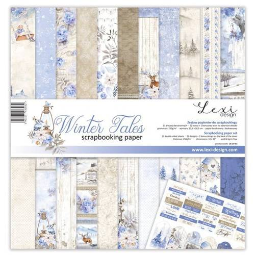 Papiery do scrapbookingu Winter Tales 30x30 cm