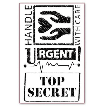 Stempel akrylowy Stamperia - Top Secret