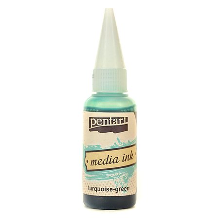 Tusz Media Ink 20 ml - turquoise-green